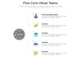 Pros Cons Virtual Teams Ppt Powerpoint Presentation Icon Guidelines Cpb