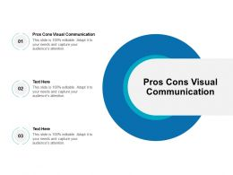 Pros Cons Visual Communication Ppt Powerpoint Presentation Ideas Display Cpb