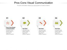 Pros Cons Visual Communication Ppt Powerpoint Presentation Portfolio Diagrams Cpb