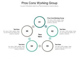Pros Cons Working Group Ppt Powerpoint Presentation Model Ideas Cpb
