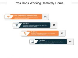 Pros Cons Working Remotely Home Ppt Powerpoint Presentation File Sample Cpb