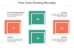 Pros Cons Working Remotely Ppt Powerpoint Presentation Show Format Cpb