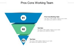 Pros Cons Working Team Ppt Powerpoint Presentation Professional Guide Cpb