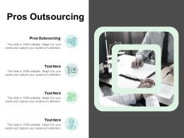 Pros Outsourcing Ppt Powerpoint Presentation Layouts Tips Cpb