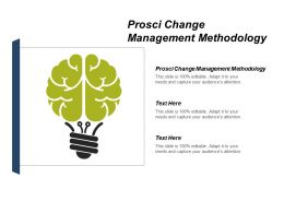Prosci Change Management Methodology Ppt Powerpoint Presentation Model Elements Cpb