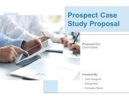 Prospect Case Study Proposal Powerpoint Presentation Slides