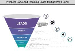 Prospect Converted Incoming Leads Multicolored Funnel