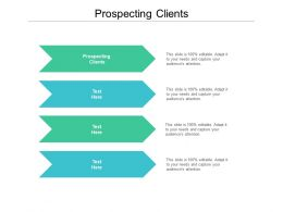 Prospecting Clients Ppt Powerpoint Presentation Infographic Template Graphics Cpb