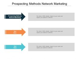Prospecting Methods Network Marketing Ppt Powerpoint Presentation Outline Examples Cpb