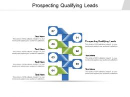 Prospecting Qualifying Leads Ppt Powerpoint Presentation Gallery Maker Cpb