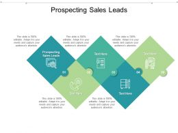 Prospecting Sales Leads Ppt Powerpoint Presentation Infographic Template Maker Cpb