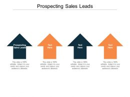 Prospecting Sales Leads Ppt Powerpoint Presentation Outline Example Cpb