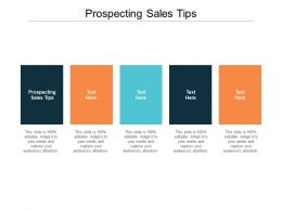 Prospecting Sales Tips Ppt Powerpoint Presentation Infographics Infographics Cpb