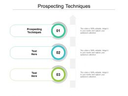 Prospecting Techniques Ppt Powerpoint Presentation Outline Infographics Cpb