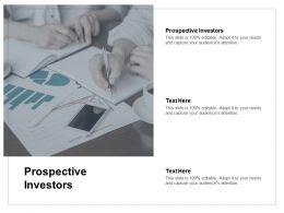 Prospective Investors Ppt Powerpoint Presentation Portfolio Clipart Cpb