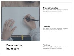Prospective Investors Ppt Powerpoint Presentation Professional Files Cpb