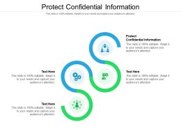 Protect Confidential Information Ppt Powerpoint Presentation Gallery Smartart Cpb
