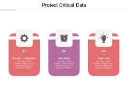 Protect Critical Data Ppt Powerpoint Presentation Summary Layout Cpb