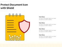Protect Document Icon With Shield
