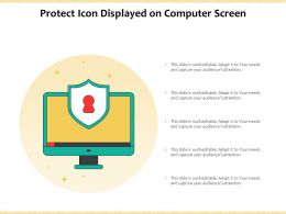 Protect Icon Displayed On Computer Screen