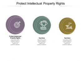 Protect Intellectual Property Right Ppt Powerpoint Presentation File Format Cpb