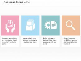 Protect The Carton Data Management Settings Of Document Search Ppt Icons Graphics