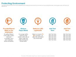 Protecting Environment Lightbulbs Ppt Powerpoint Presentation File Ideas