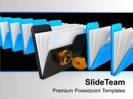 Protecting The Data Folder Security Powerpoint Templates Ppt Themes And Graphics 0113