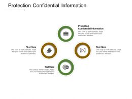 Protection Confidential Information Ppt Powerpoint Presentation Model Visuals Cpb