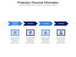 Protection Personal Information Ppt Powerpoint Presentation Professional Cpb