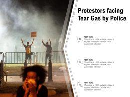 Protestors Facing Tear Gas By Police