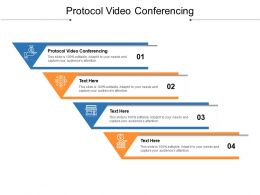 Protocol Video Conferencing Ppt Powerpoint Presentation Summary Diagrams Cpb