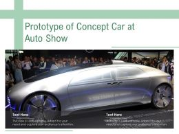 Prototype Of Concept Car At Auto Show