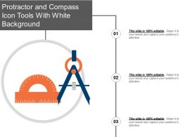Protractor And Compass Icon Tools With White Background