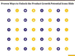 Proven Ways To Unlock The Product Growth Potential Icons Slide Ppt Slides