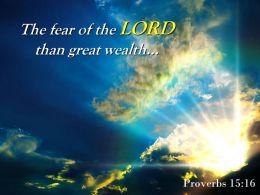 Proverbs 15 16 The Fear Of The Lord Than Powerpoint Church Sermon