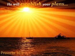 Proverbs 16 3 He Will Establish Your Plans Powerpoint Church Sermon