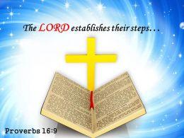 Proverbs 16 9 The LORD establishes PowerPoint Church Sermon