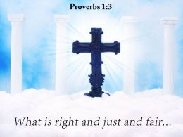Proverbs 1 3 What is right and just PowerPoint Church Sermon