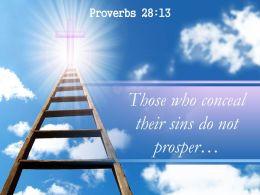 Proverbs 28 13 Those who conceal their sins PowerPoint Church Sermon