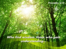 Proverbs 3 13 Who Find Wisdom Those Powerpoint Church Sermon