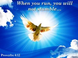 Proverbs 4 12 You Will Not Stumble Powerpoint Church Sermon