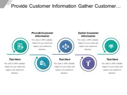 Provide Customer Information Gather Customer Information Request Service