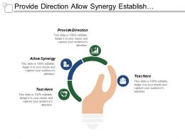Provide Direction Allow Synergy Establish Priorities Minimize Conflicts