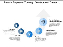 Provide Employee Training Development Create Deploy Workforce Planning