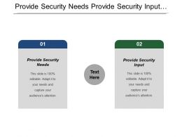 Provide Security Needs Provide Security Input Monitor Security Poster
