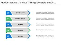 Provide Service Conduct Training Generate Leads Drive Sales Measure Roi