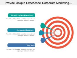 Provide Unique Experience Corporate Marketing Development Planning Function