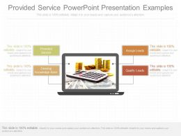 Provided Service Powerpoint Presentation Examples