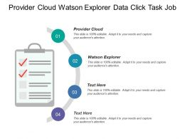Provider Cloud Watson Explorer Data Click Task Job